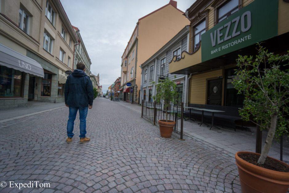 As dark as it gets in Östersund on the Midsummer weekend