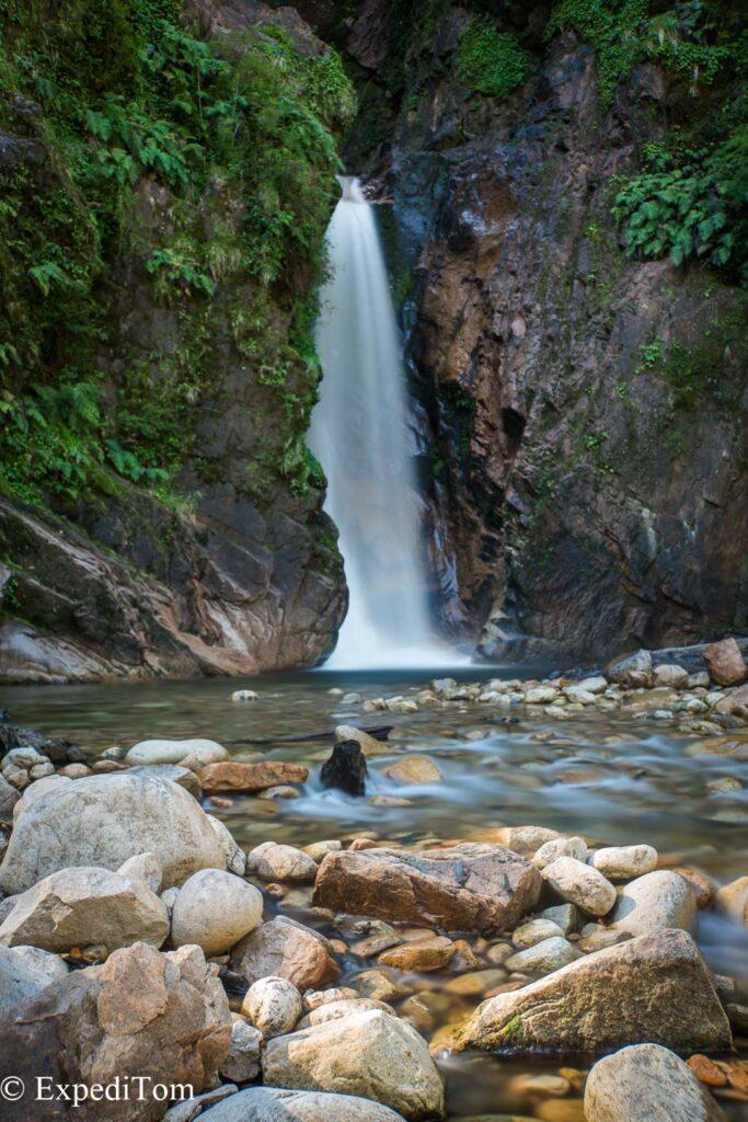 The Virgin Falls between Coyhaique and Puerto Aisen at the Rio Simpson