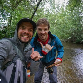 Fly Fishing Guiding in Switzerland with Attie