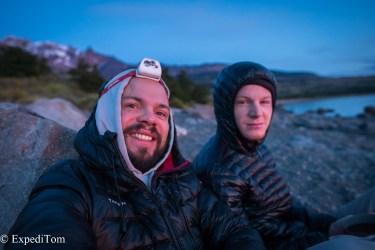 Early Sunrise at lake viedma Huemul Trek 2018
