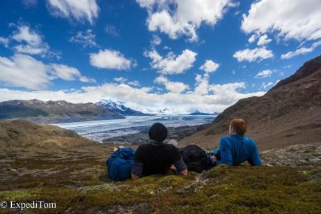Relaxed waiting Paso de Huemul Huemul Trek 2018 Camping Trekking Hiking