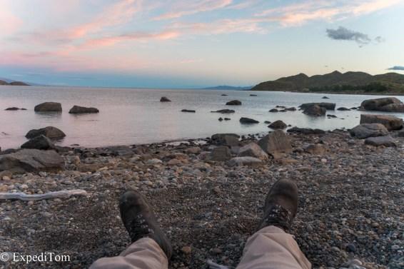 Tired legs trekking hiking outdoor Huemul Trek 2018