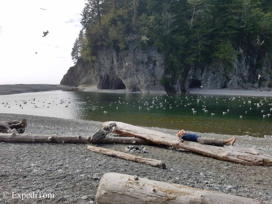 Camp Walbrun and our lovely water source on the West Coast Trail