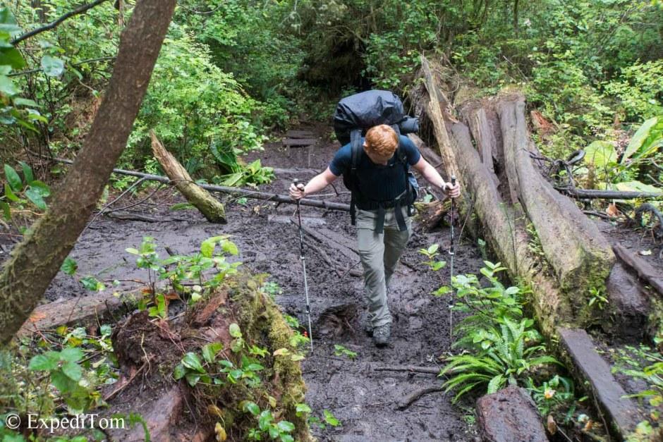 Mud starts at the knees - West Coast Trail