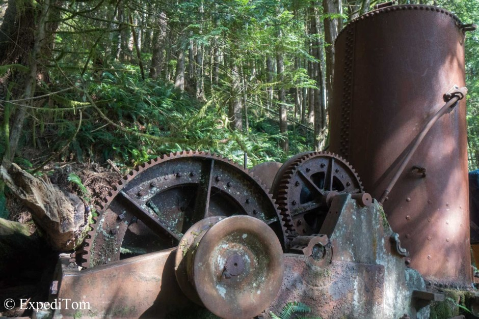 The world famous donkey engine on the West Coast Trail - well worth the visit after hiking for 5 days.