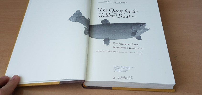 The Quest for the Golden Trout – book review