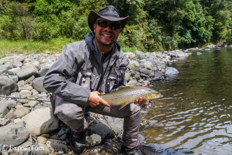 Stunning brown trout caught during a fishing trip with the AFAC
