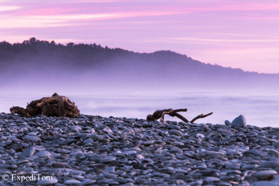 Sunset at West Coast New Zealand