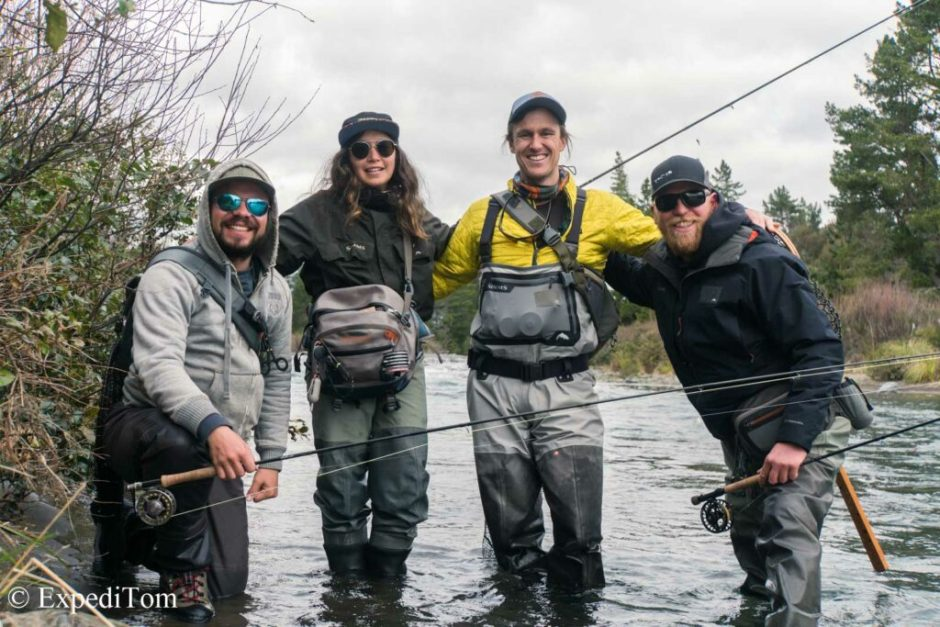 The fly fishing squad: Claudio, Jack, Theresa and me (Photo: Andrew Harding)