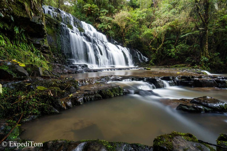 Pukahinui Falls in the Catlins