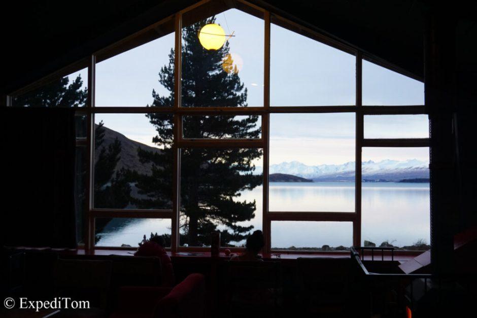 Stunning views from Lakefront backpackers Tekapo