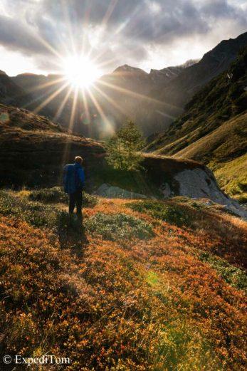 Stunning autumn colors in the Calanca valley Switzerland