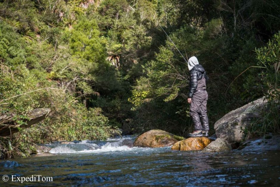 Fly fishing in New Zealand with Menza Sonic Waders