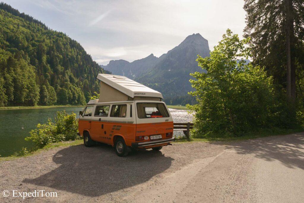 VW Bus Trip Van Life in switzerland