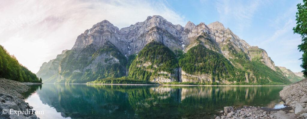 Swiss Alps Lake Panorama