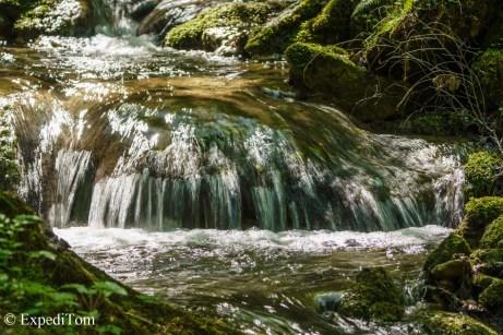 Bubbly mountain streams