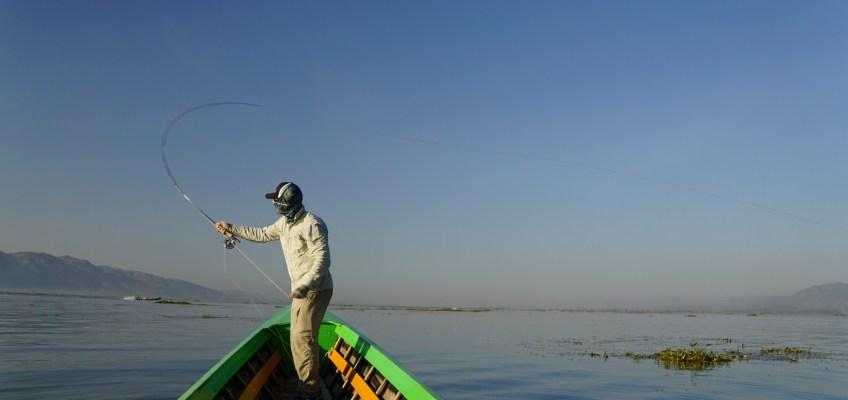 Fly fishing Myanmar Inle Lake