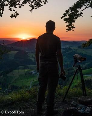 Sunrise in the Jura mountains