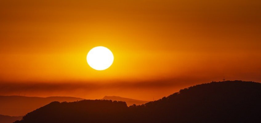 Sunrise Jura mountains