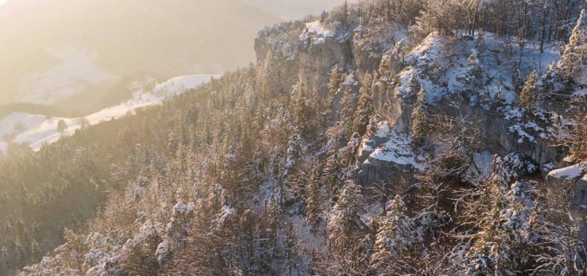 Sunset mood over the Jura mountains