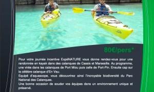 Journée Incentive en Kayak Calanque de Cassis