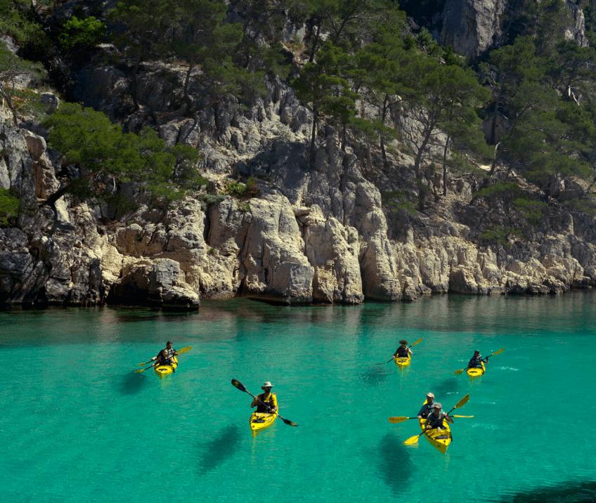 Sortie encadrée kayak de mer calanques de cassis