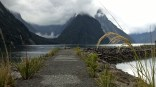 Mittre peak from MIlford Sound terminal