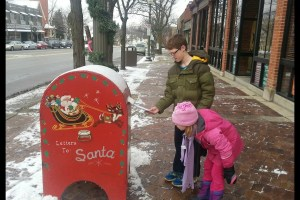 Mailing letters to Santa - best time to be a kid