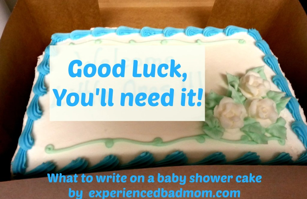 What to write on a baby shower cake