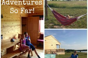 Our Summer Adventures So Far included a weekend at a camper cabin. So luxurious compared to a tent!