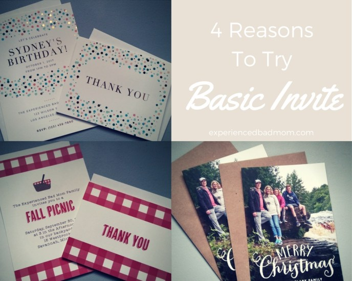 Here are 4 Reasons to Try Basic Invite for your next kids' birthday party or custom party invitations.