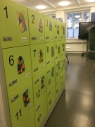Each student has their own locker since they do not have individual desks
