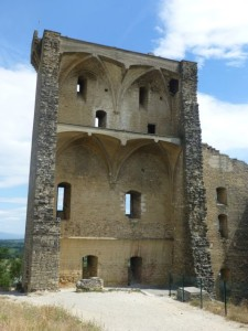 Remnants of the Pope's castle