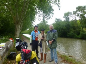 The Graue's and my husband along the Canal du Midi