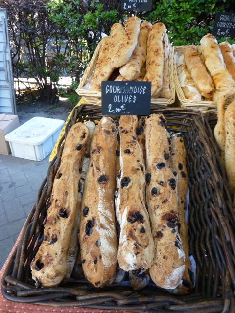 Decadent olive bread