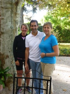 Philippe and Sylvie Monti with me at Villa Noria