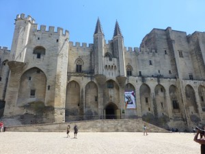 The Palace of the Popes in Avignon