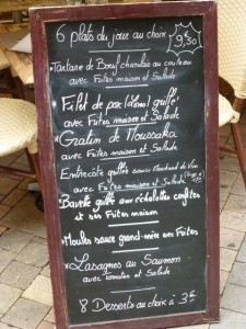 Chef's specials in Bordeaux
