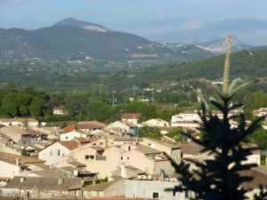 Views of the Luberon hills from our room