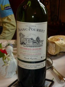 Franc-Pourret wine served with winegrower's breakfast