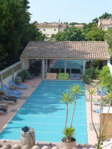 The pool at Petit Hotel Marseillan