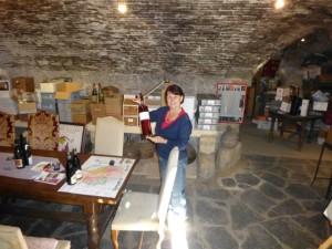 Wine cellar at Wine B&B