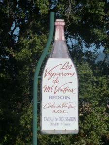 Vineyards surround Ventoux