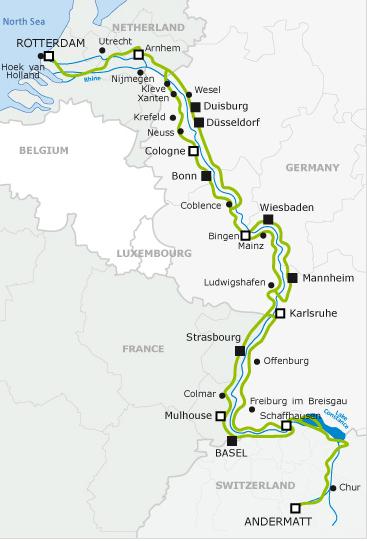 EuroVelo 15, The Rhine Cycle Route