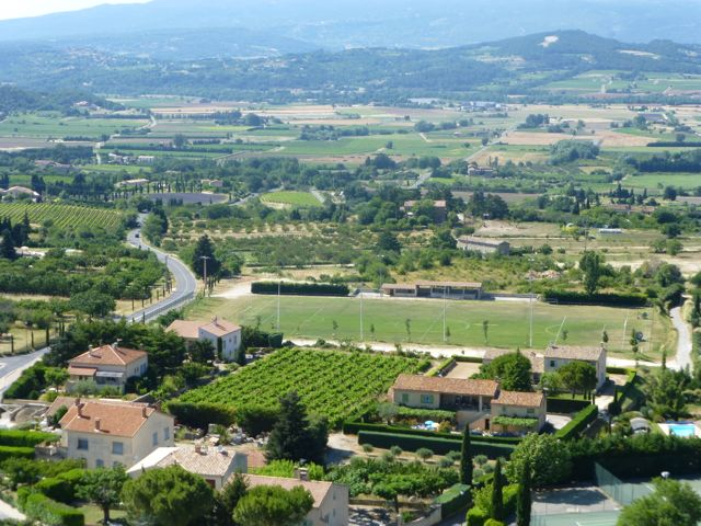 Breathtaking view of the Luberon from the hill top town of Bonnieux