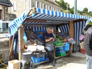 Oyster stand in Cancale