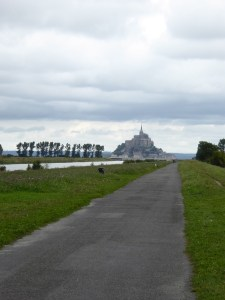 View of Mont Saint Michel from Pontorson greenway