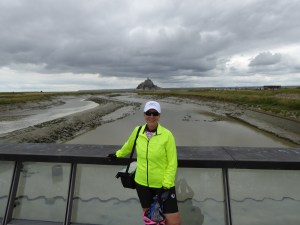 Me in front of Mont Saint Michel