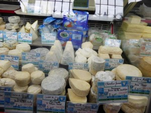 So many cheese options to choose from!