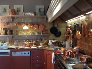 The kitchen and breakfast spread